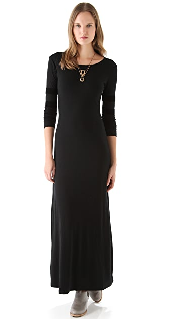 Pencey Maxi Dress with Mesh