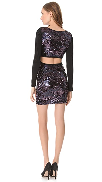 Pencey Open Back Sequin Dress