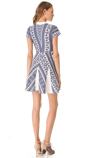 Pencey Geo Print Deep V Dress