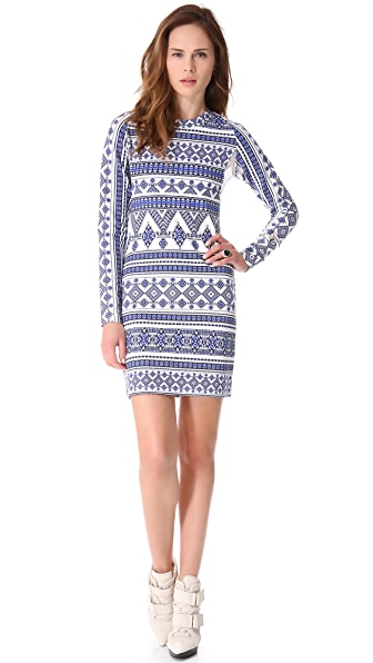 Pencey Long Sleeve Geo Dress