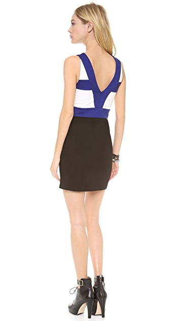 Pencey Team V Neck Colorblock Dress