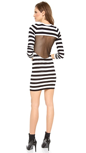 Pencey Mesh Back Stripe Dress