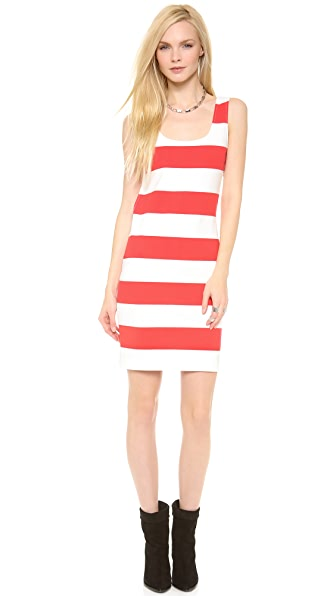 Pencey Cutout Stripe Tank Dress