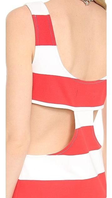 Pencey Cutout Stripe Tank Dress