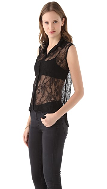 Pencey Standard Sleeveless Lace Blouse by Jessica Hart for Pencey Standard