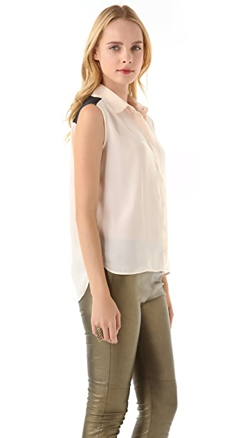 Pencey Standard Sleeveless Shirt by Jessica Hart for Pencey Standard
