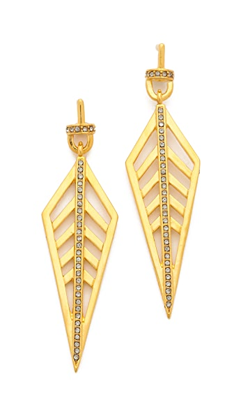 Paige Novick Long Diamond Pave Earrings