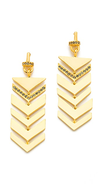 Paige Novick Short Multi Arrow Motif Earrings