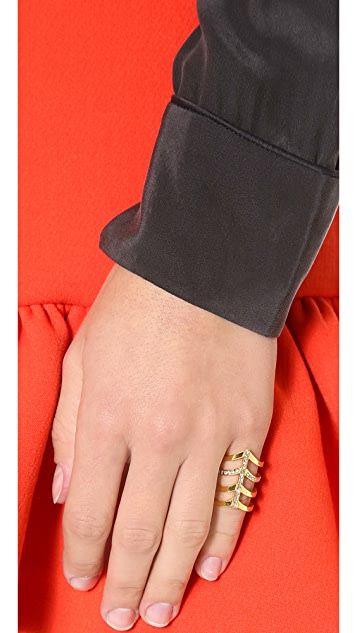 Paige Novick 4 Row Pointed Ring