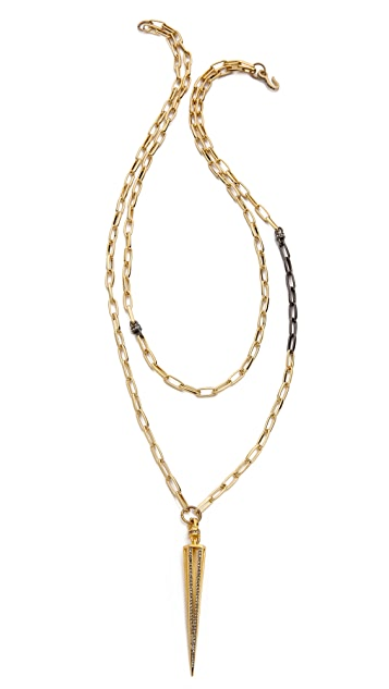 Paige Novick Claire Collection Caged Spike Necklace