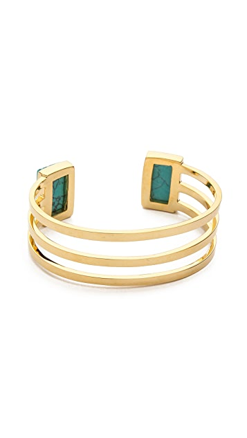 Paige Novick Isabelle Collection Stone Inset Cuff Bracelet