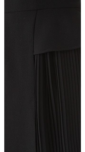 Porter Grey Pleated Dress