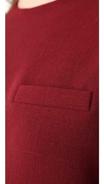 Porter Grey Long Sleeve Shift Dress