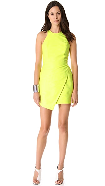 Porter Grey Wrap Overlay Dress