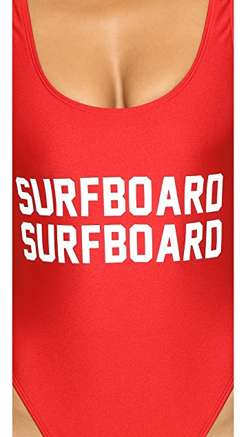 Private Party Surfboard Surfboard One Piece Bathing Suit