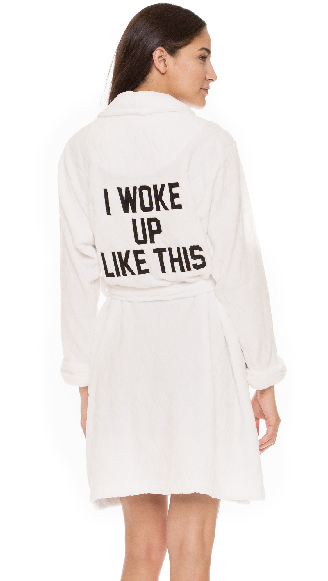 Private Party I Woke Up Like This Robe In White