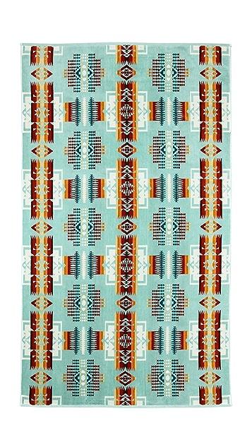 Pendleton, The Portland Collection Chief Joseph Aqua Oversized Jacquard Towel
