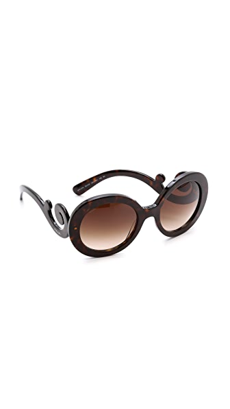 80d457e4beb Prada Baroque Round Sunglasses Amazon