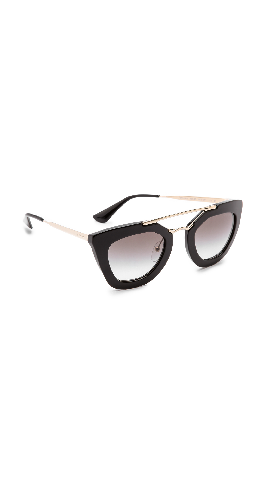 Prada Thick Frame Sunglasses - Black/Black at Shopbop