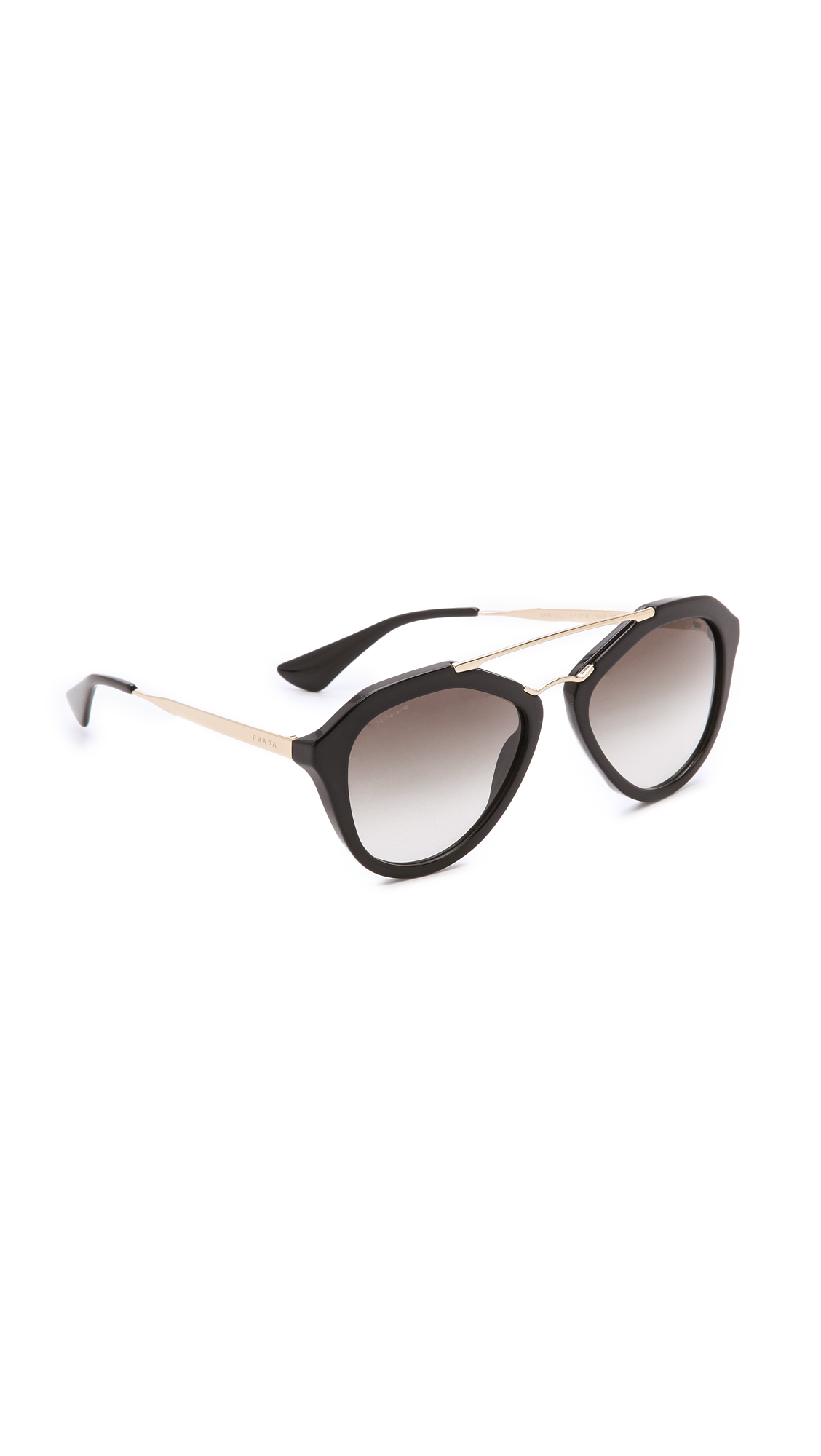 Prada Aviator Sunglasses - Black/Black at Shopbop