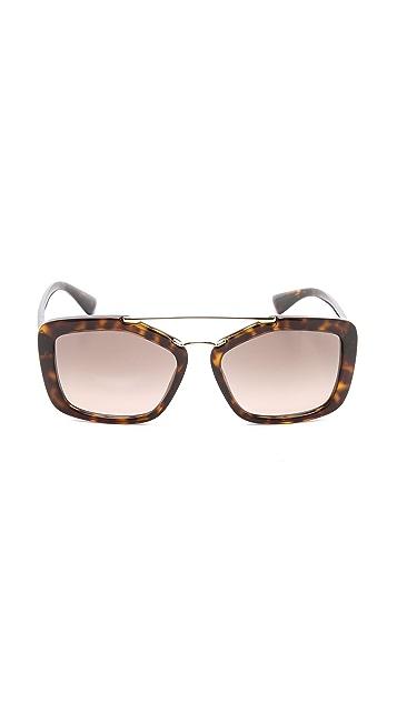 Prada Catwalk Aviator Sunglasses