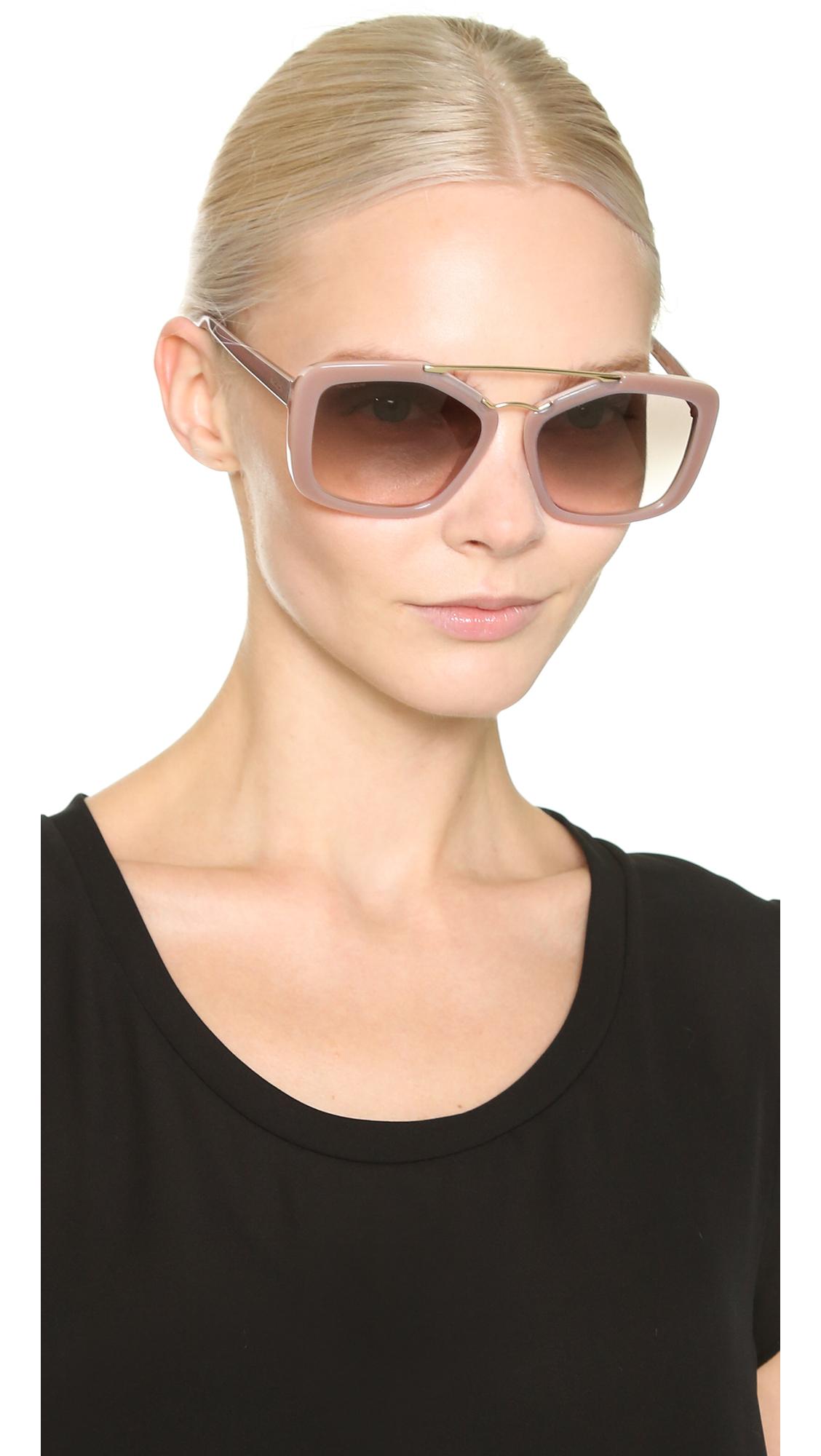 841d0f38d455f Prada Catwalk Aviator Sunglasses