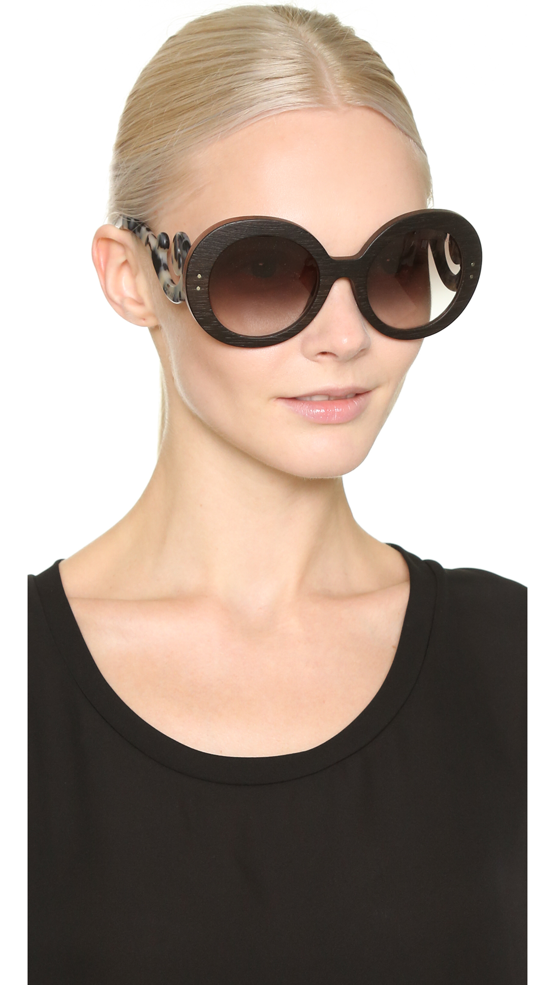 Prada Wood Sunglasses Shopbop