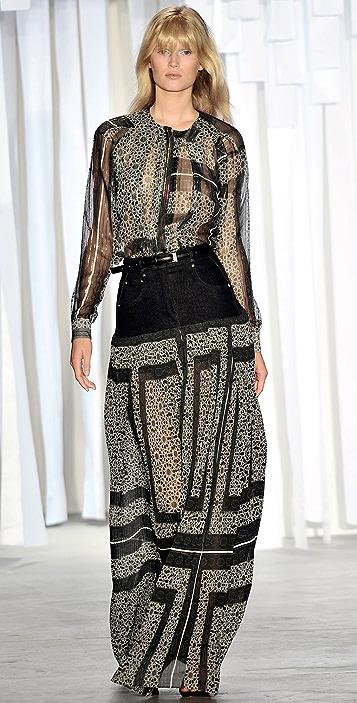 Preen By Thornton Bregazzi Ash Maxi Skirt