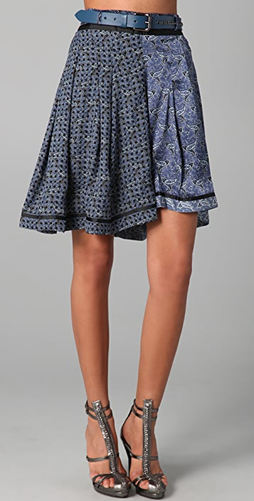 Preen By Thornton Bregazzi Print Funnel Skirt