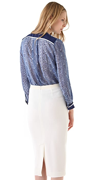 Preen By Thornton Bregazzi Diamond Blouse