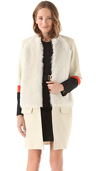 Preen By Thornton Bregazzi Zora Coat with Fur