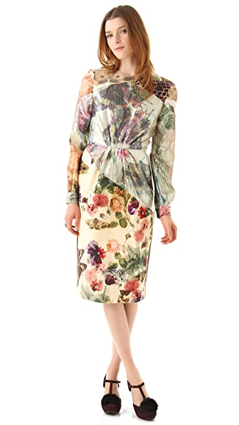 Preen By Thornton Bregazzi Botanic Sequin Inset Dress