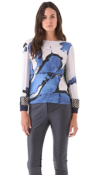Preen By Thornton Bregazzi Painted Top