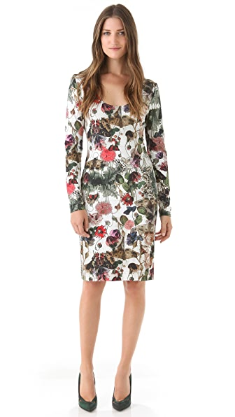 Preen By Thornton Bregazzi Print Jersey Dress