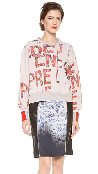 Preen By Thornton Bregazzi Slogan Print Sweatshirt