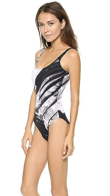 Preen By Thornton Bregazzi Slogan Swimsuit