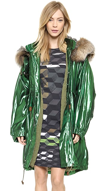 Preen By Thornton Bregazzi Orion Parka with Fur Hood