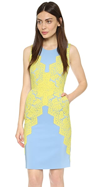 Shop Preen By Thornton Bregazzi online and buy Preen By Thornton Bregazzi Allington Dress Blue/Yellow online store