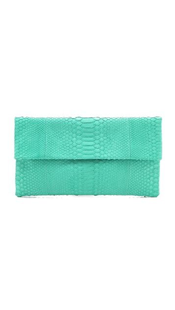 Primary Solid Python Clutch