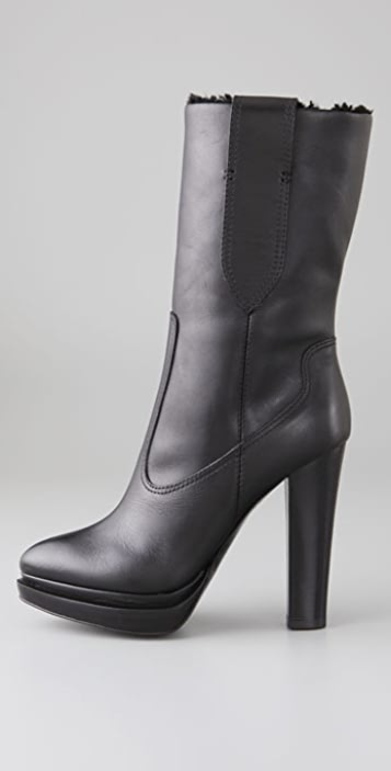 Proenza Schouler Shearling Mid Calf Boots