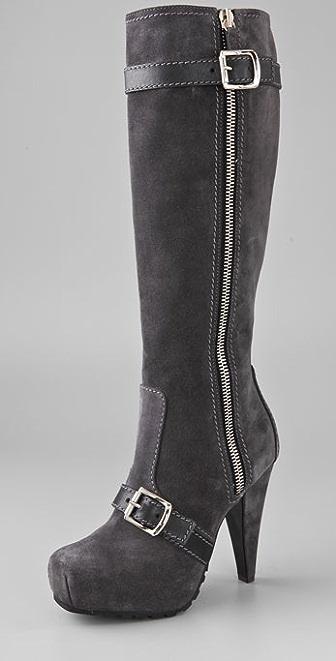 Proenza Schouler Outside Zip Suede Boots
