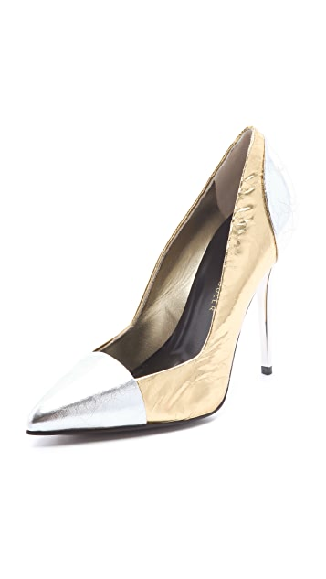 Proenza Schouler Metallic Cap Toe Pumps
