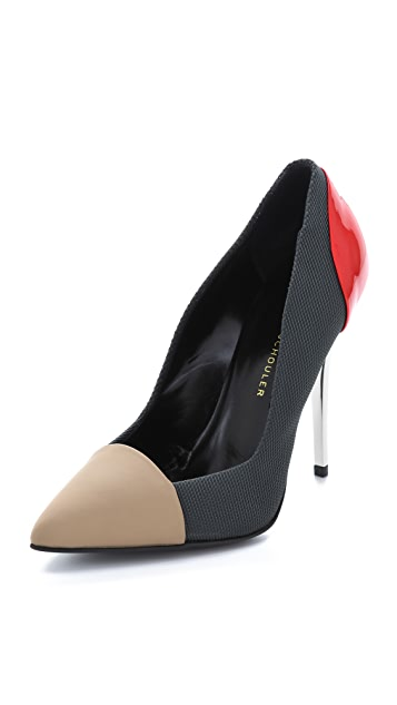 Proenza Schouler Cap Toe Colorblock Pumps