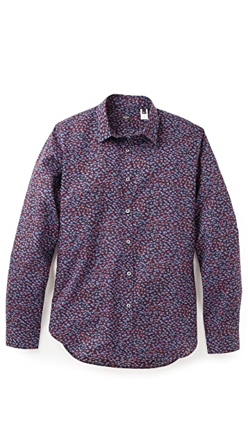 PS by Paul Smith Blurry Floral Shirt