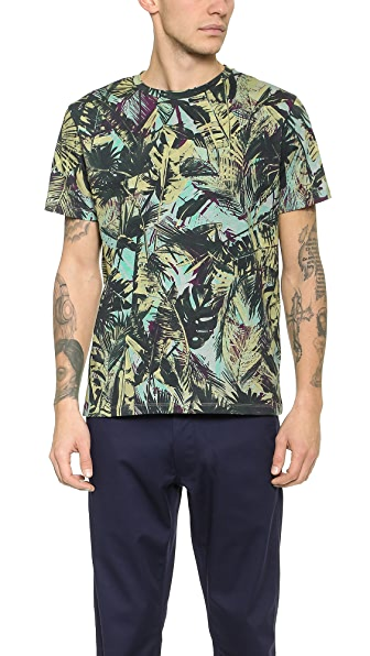 PS by Paul Smith Palm Leaves Print T-Shirt
