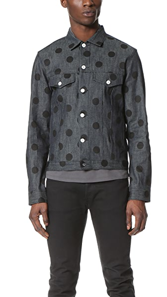 PS by Paul Smith Denim Jacket with Spots