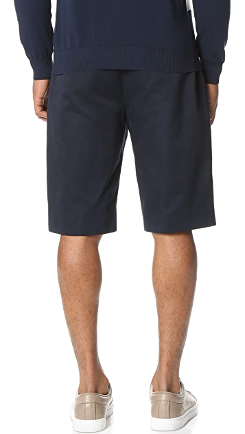 PS by Paul Smith Drawstring Cotton Linen Shorts