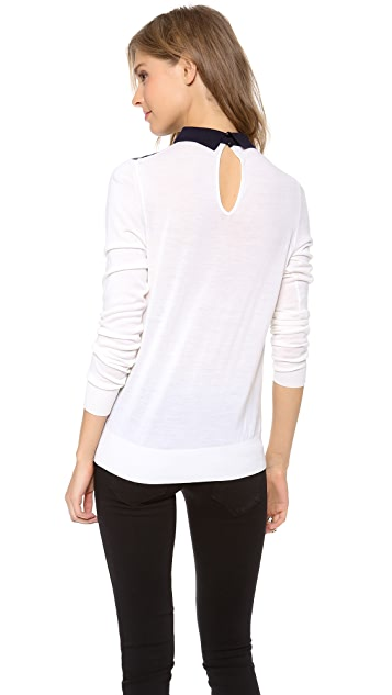 Paul Smith Black Label Magnolia Silk Front Sweater