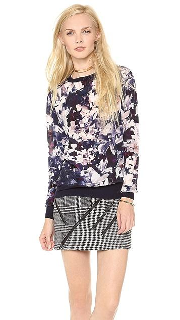 Paul Smith Black Label Magnolia Silk Sweatshirt