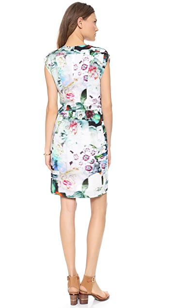 Paul Smith Black Label Floral Check Collage Dress